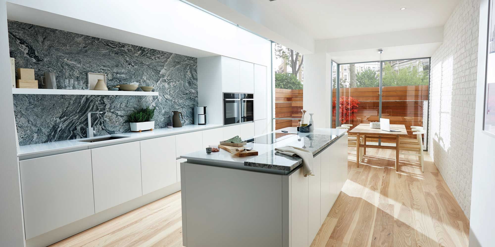 White Modern Kitchen Open